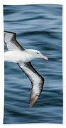 Black-browed Albatross Gliding Over Deep Blue Waves Bath Towel