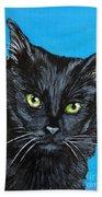 Black Cat Bath Towel