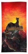Black Cat. Mistress Of Diamond Mountain Bath Towel