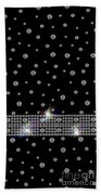 Black Diamonds Jewelry Art Bath Towel