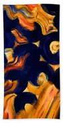 Black Fire Bath Towel