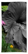 Black Hibiscus Bath Towel