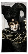 Black Jester Bath Towel