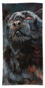 Black Leopard Bath Towel