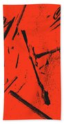 Black On Red Hand Towel