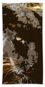 Black Panther Bath Towel