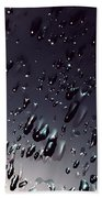 Black Rain Bath Towel