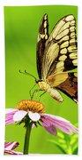 Black Swallowtail Butterfly Bath Towel