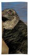Black Vulture 1 Bath Towel