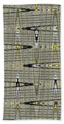 Black Walnut Drawing With Yellow Abstract Bath Towel