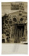 Blacksmith Shop 1867 Cove Creek Fort Utah Photograph In Sepia Bath Towel