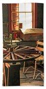 Blacksmith Shop Wheel Repair At Old World Wisconsin Bath Towel