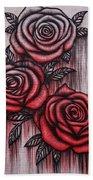 Bleeding Roses Bath Towel