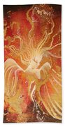 Blissful Fire Angels Bath Towel