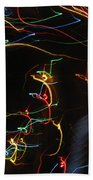 Blizzard Of Colorful Lights. Dancing Lights Series Bath Towel