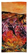 Blooming Cherry Trees Bath Towel