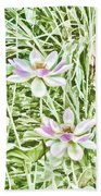 Blossom Pink Lotus Flower Hand Towel