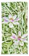 Blossom Pink Lotus Flower Bath Towel