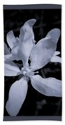 Blossoms In Black And White Bath Towel