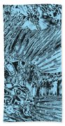 Blue Abstract - Lionfish Bath Towel