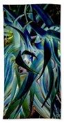 Blue Abstract Art Lorx Bath Towel