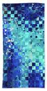 Blue Abstract Art - Pieces 2 - Sharon Cummings Bath Towel
