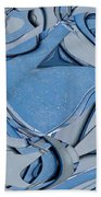 Blue And Gray Bath Towel