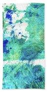 Blue And Green Abstract - Imagine - Sharon Cummings Bath Towel