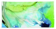 Blue And Green Abstract - Land And Sea - Sharon Cummings Bath Towel