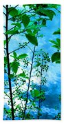 Nature's Gifts Of Blue And Green Bath Towel