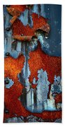 Blue And Rust Hand Towel