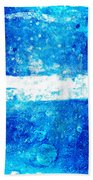 Blue And White Modern Art - Two Pools 2 - Sharon Cummings Bath Towel