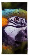 Blue-and-yellow Macaw Bath Towel