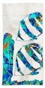 Blue Angels Fish Art By Sharon Cummings Bath Towel