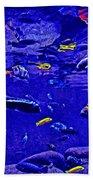 Blue Aquarium Bath Towel