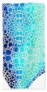 Blue Art - Colorforms 3 - Sharon Cummings  Bath Towel