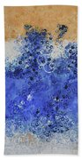 Blue Beach Bubbles Bath Towel
