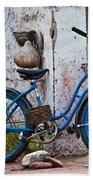 Blue Bicycle Bath Towel
