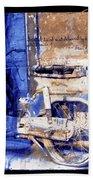 Blue Bike Abandoned India Rajasthan Blue City 2c Bath Towel