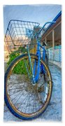 Blue Bike Bath Towel