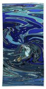 Blue Bird Abstract Bath Towel