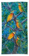 Blue Breasted Bee Eater Bath Towel