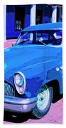 Blue Buick Bath Towel