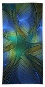 Blue Butterflies Bath Towel