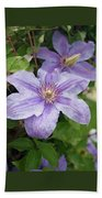 Blue Clematis Bath Towel