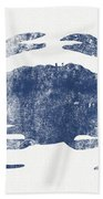 Blue Crab- Art By Linda Woods Bath Towel