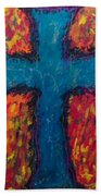Blue Cross Bath Towel
