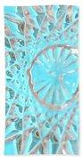 Blue Crystal Snowflake Bath Towel
