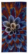 Blue Dahlia Bath Towel