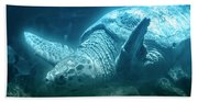 Blue Depths Sea Turtle Bath Towel